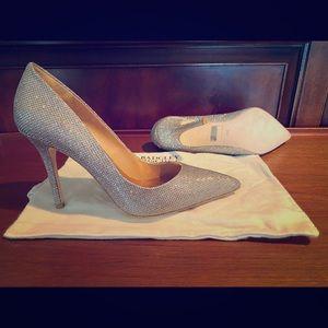 Badgley Mishka metallic heels